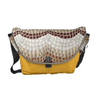 Beige Mosaic Medium Messenger Bag