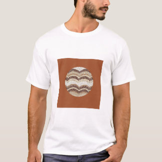 Beige Mosaic Men's Basic T-Shirt