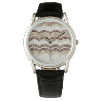 Beige Mosaic Men's Watch