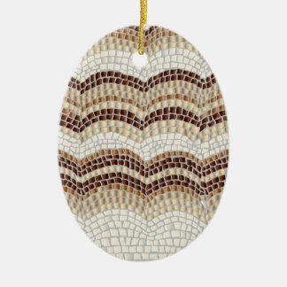Beige Mosaic Oval Ornament