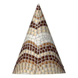 Beige Mosaic Party Hat