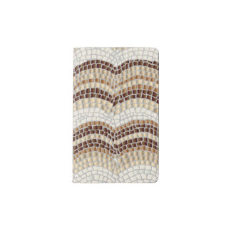 Beige Mosaic Pocket Notebook
