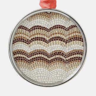 Beige Mosaic Premium Round Ornament