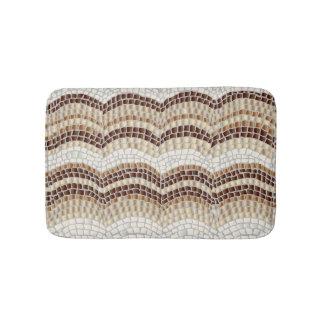 Beige Mosaic Small Bath Mat