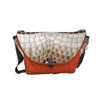 Beige Mosaic Small Messenger Bag