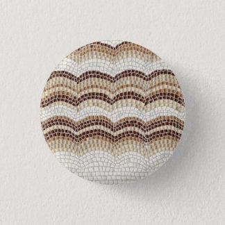 Beige Mosaic Small Round Button