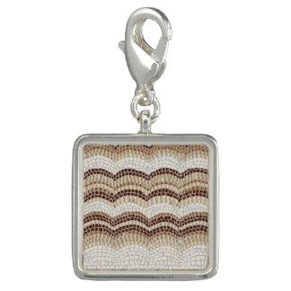 Beige Mosaic Square Charm