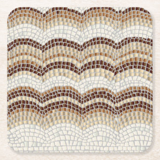 Beige Mosaic Square Coaster