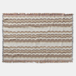 Beige Mosaic Throw Blanket