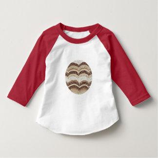 Beige Mosaic Toddler Raglan T-Shirt