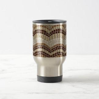 Beige Mosaic Travel Mug