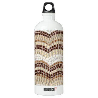 Beige Mosaic Traveller 1 L Water Bottle