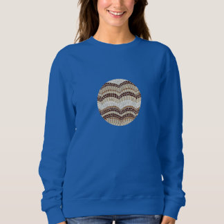 Beige Mosaic Women's Basic Sweatshirt
