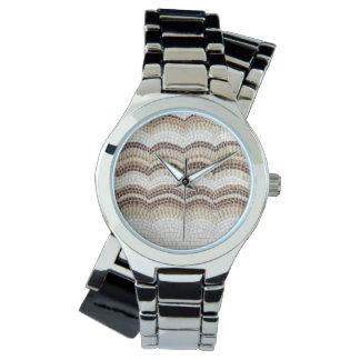 Beige Mosaic Women's Watch