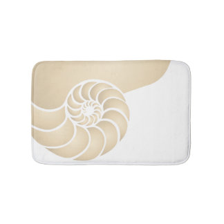 Beige Nautilus Nautical Seaside Bath Mat