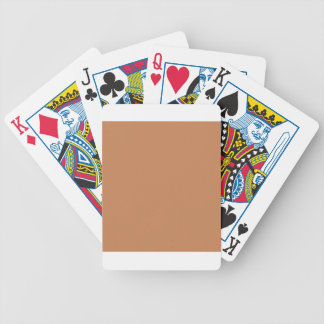 Beige Orange Red One Solid Color Colour Bicycle Playing Cards