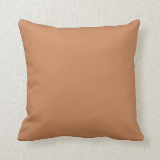 Beige Orange Red One Solid Color Colour Cushion