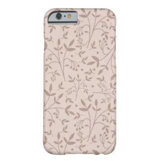 Beige pattern barely there iPhone 6 case