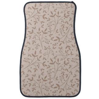 Beige pattern car mat