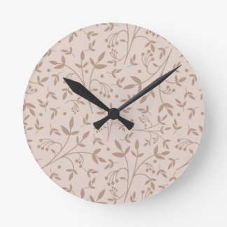 Beige pattern clock