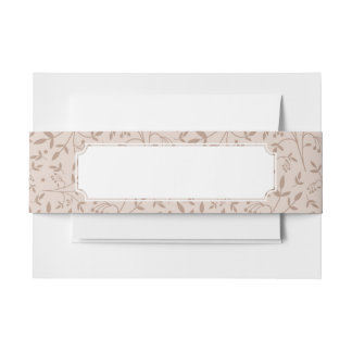 Beige pattern invitation belly band