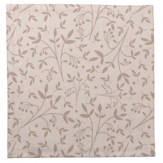 Beige pattern napkin
