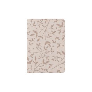 Beige pattern passport holder