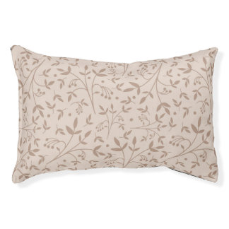 Beige pattern pet bed