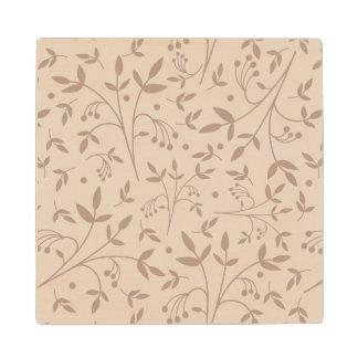Beige pattern wood coaster