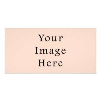 Beige Peach Pink Color Trend Blank Template Photo Card Template