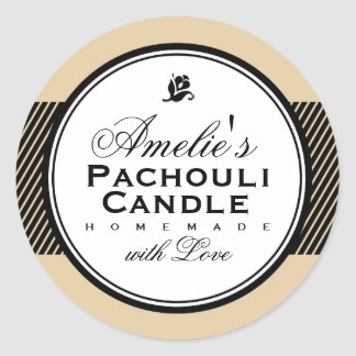BEIGE | PERSONALIZED SOAP & CANDLE STICKER