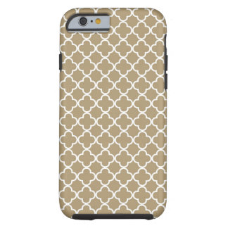 Beige Quatrefoil Pattern Tough iPhone 6 Case