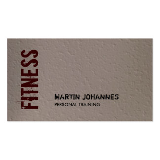 Beige Red Fitness Modern Business Card