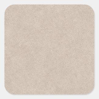 Beige Retro Custom Leather Square Sticker