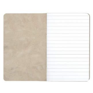 Beige Retro Custom Suede Journal