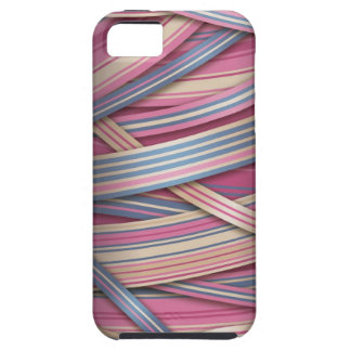 Beige Rose abstract lines Tough iPhone 5 Case