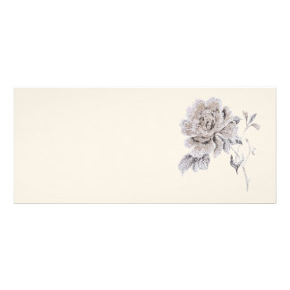 Beige rose personalized rack card