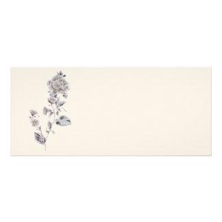 Beige rose rack card