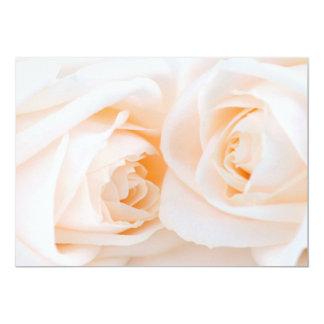 Beige roses 13 cm x 18 cm invitation card