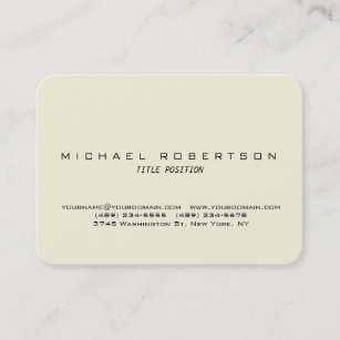 Rounded corners chubby business cards business card printing beige round corner minimalist chubby business card reheart Images
