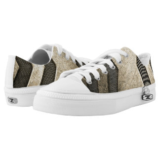Beige Sci-fi Design Low Top Shoes Printed Shoes