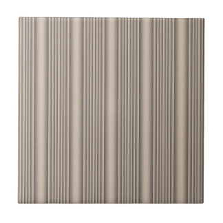 Beige Sculpted Stripe Ceramic Tile