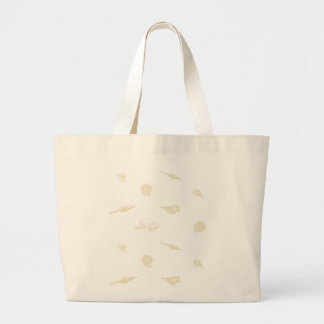 Beige seashells and Starfish pattern beach bag