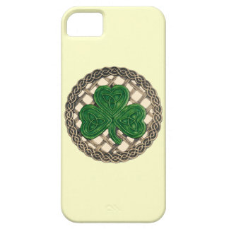 Beige Shamrock And Celtic Knots iPhone 5 Case