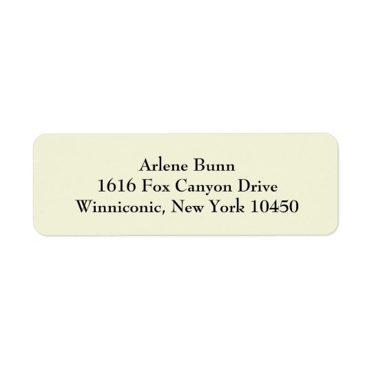 Beige Simple Plain Return Address Labels