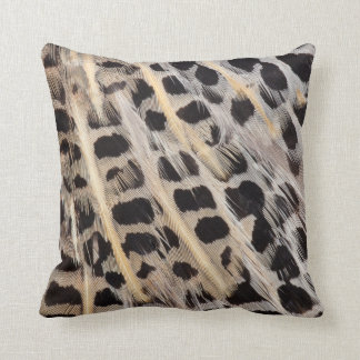 Beige Spotted Feather Abstract Cushion
