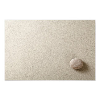 Beige stone on sand background photo print