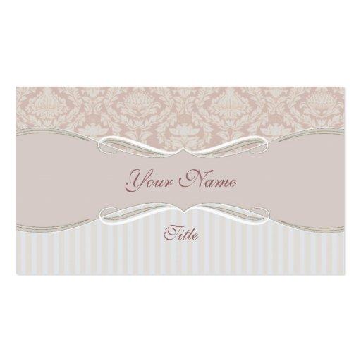 Beige Stripe Business Card