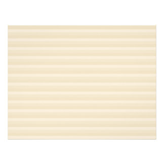 Beige Tan Color Stripe Pattern. 21.5 Cm X 28 Cm Flyer