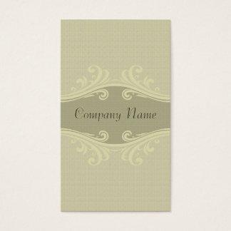 Beige Tone Natural Linen Texture & Swirls Business Card